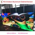 P2.5 SMD Крытый полноцветный 640x640 мм Прокат реклама экран шкаф стеновая панель led видео дисплей