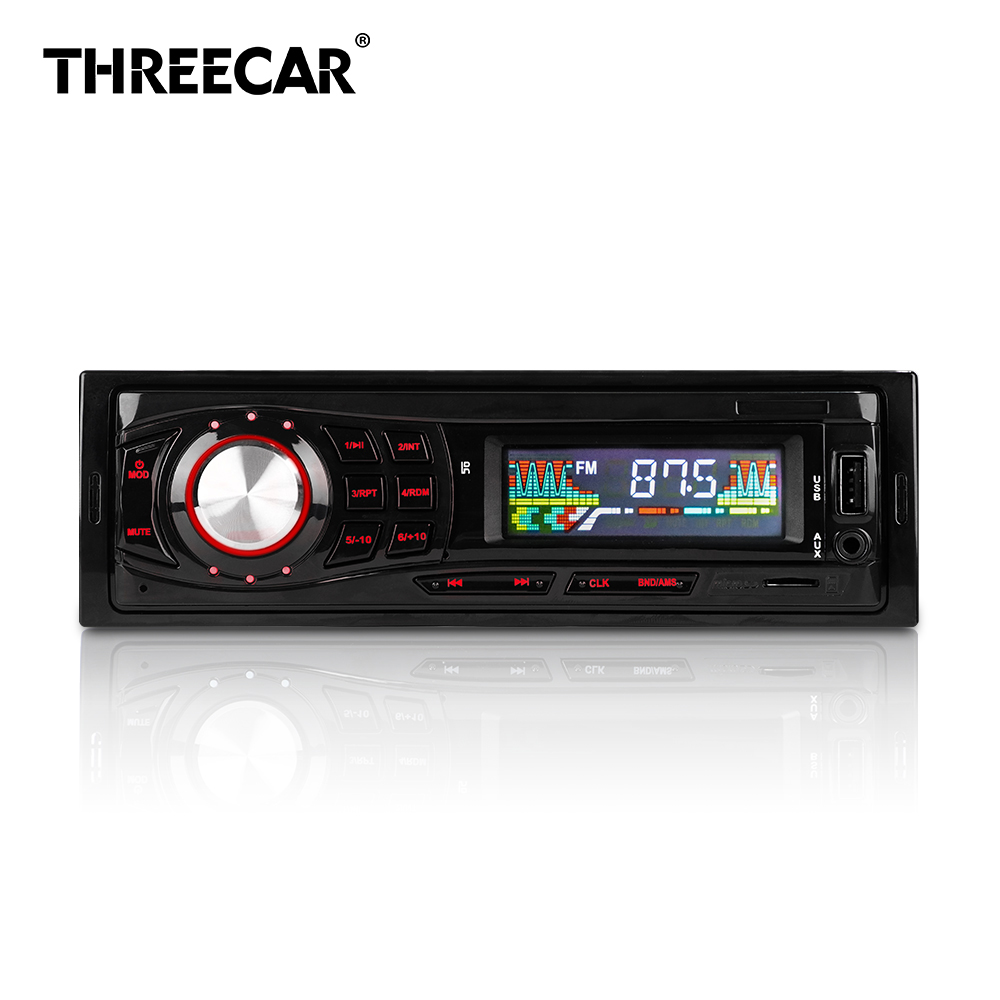 New Car Radio Stereo Mp3 Player FM Radio Led Scree 1 Din Car Audio 12V USB/AUX Multimedia Car Mp3 Player Plug-In Card Mp3 Radio 300 m driving coaches teaching machine pure980 fm car radio mp3 audio transmitter