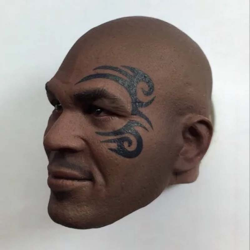 Mnotht 1:6 soldier head carvings model great man fight king tyson