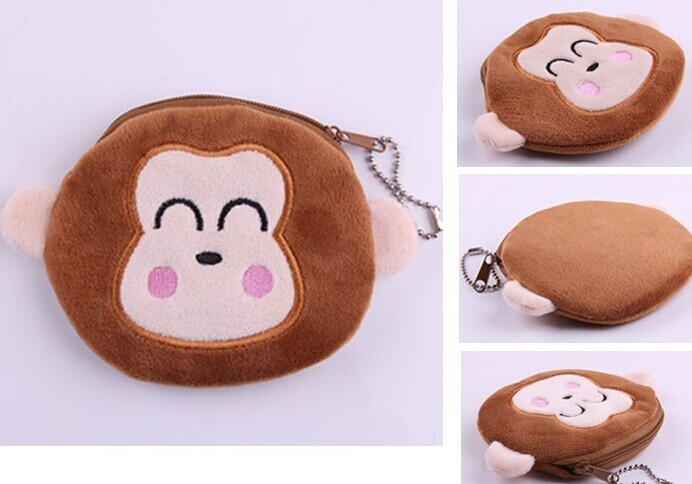 Coin Purses & Holders 6pcs Cute Monkey Plush Coin Pouch Bag Wallet Pouch Handbag ; Storage Pendant Chain Purse Bag Case Pouch Wallet Pouch
