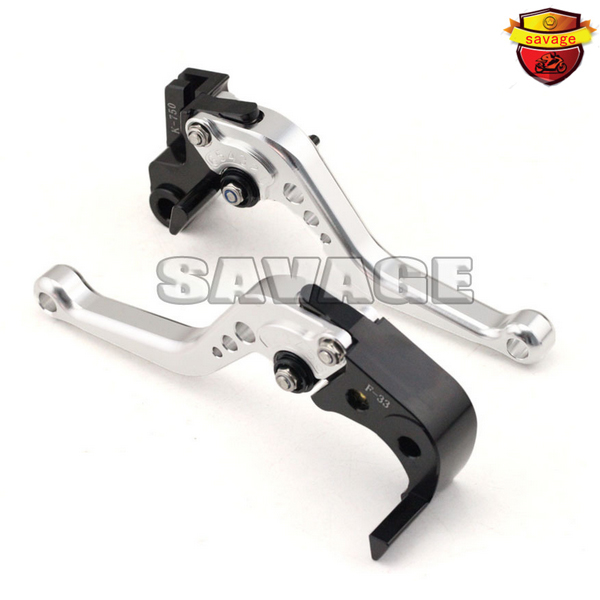 ФОТО For SUZUKI DL650 V-STROM GSX 600F/750F KATANA Motorcycle Accessories CNC Billet Aluminum Short Brake Clutch Levers Silver