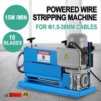 370W Abisolieren Maschine 1 5-38mm 10 Hohlräume Elektrische Stripper 10 Klingen
