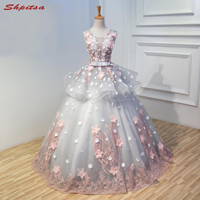 Lace Quinceanera Dresses Ball Gown Girls Masquerade Ball Gowns Sweet ...