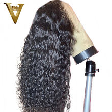 13x6 Curly Lace Front Human Hair Wigs For Women Natural Black Color Brazilian Remy Lace Wig Pre Plucked Hairline With Baby Hair(China)