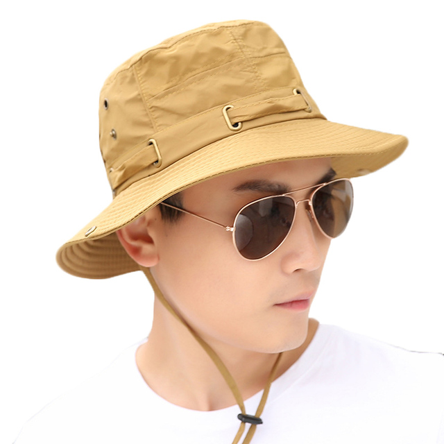 5231469c837 Fashion Women Men Summer Sun Hats Men Fisherman Hat Women Sunscreen Caps  Bucket Hats Wide Large Brim Anti-UV Holiday Beach Cap