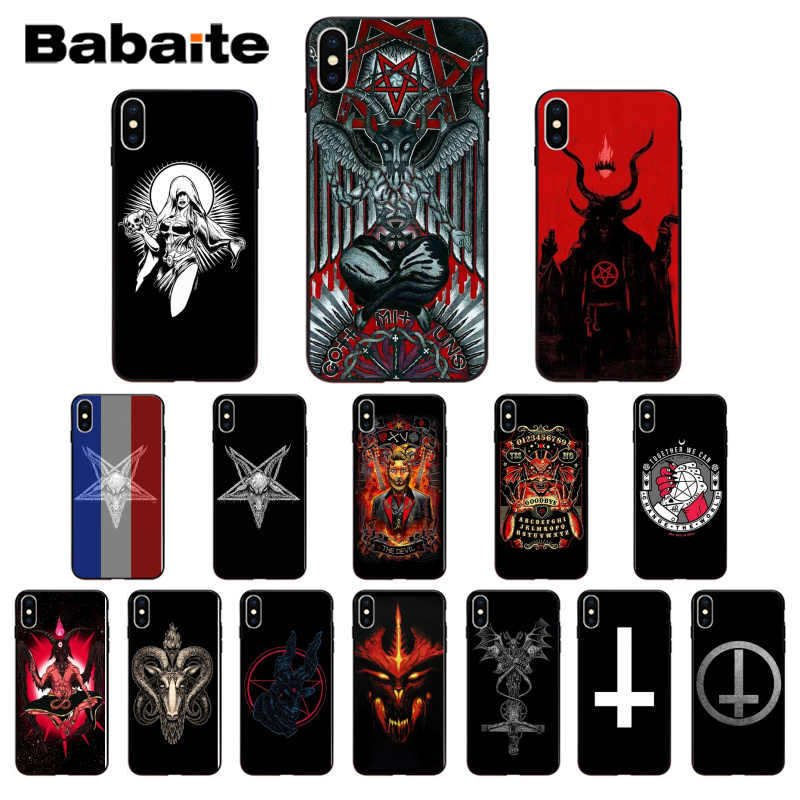 Babaite Devil Satan TPU Soft Phone Case for iPhone 7 7plus 5 5Sx 6 8 8Plus X XS MAX XR