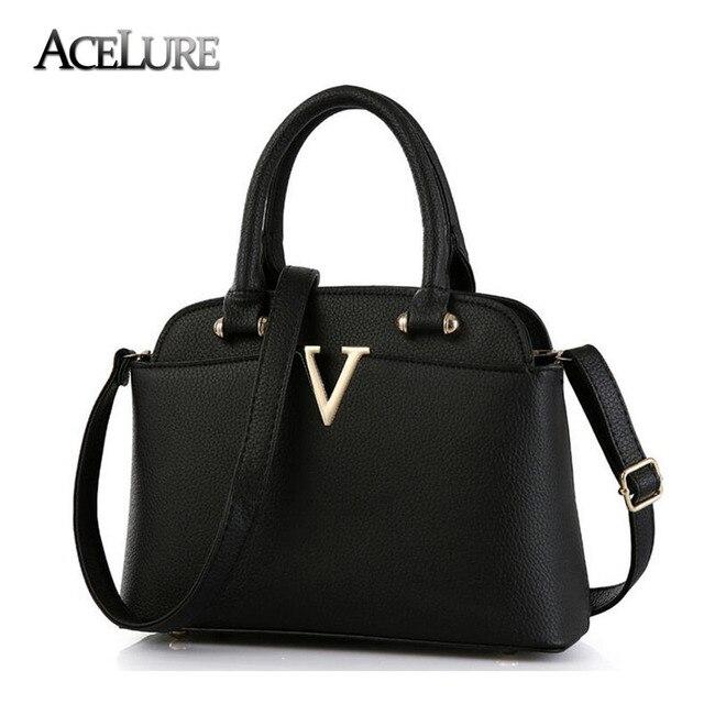 New fashion brand handbag black pu leather tote bags shell women bag  shoulder bag high quality fd69f25180bbc