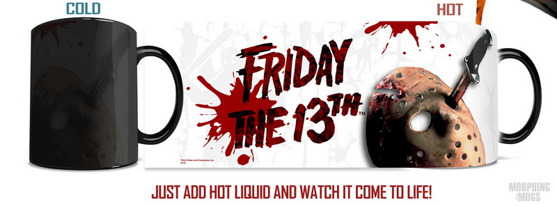 Friday the 13th (Crystal Lake) Morphing Mug morph travel mug heat changing color porcela ...