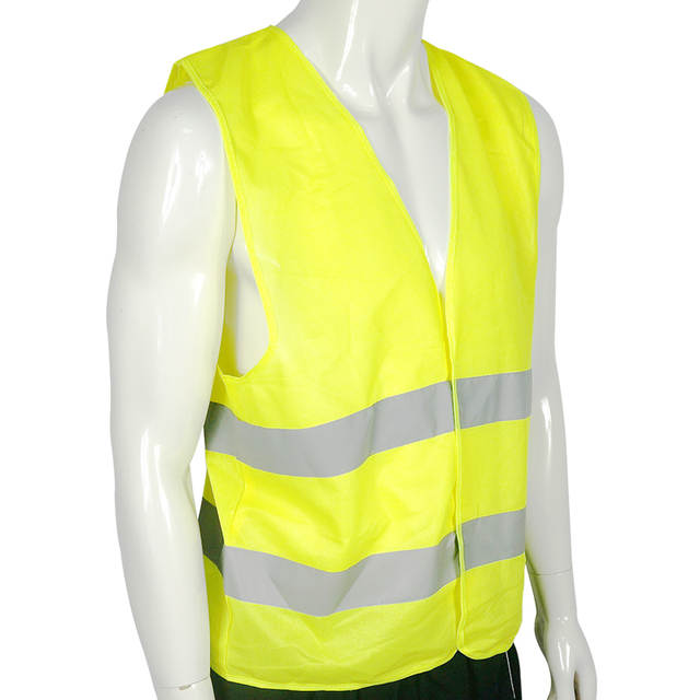 Free Shipping Visibility Security Safety Vest Jacket Reflective Strips Work  Wear Uniforms Clothing acd97984373