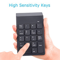 2017 New 20PCS Ultra Slim Mini Wireless Keyboard USB Numeric Keypad 18Keys 2 4G Mini Digital