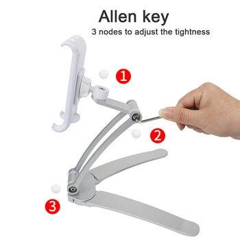 HIPERDEAL New Desktop Phone Tablet Holder Kitchen Stand Aluminum Alloy Lazy Bracket 360 Adjust Car Bracket Jy12