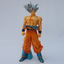 Hot Moda Dragon Ball GOKU Super Ultra Instinto Jiren Figura Migatte Action Figure Brinquedos Modelo DBZ Goku Deus Branco PVC figurinhas(China)