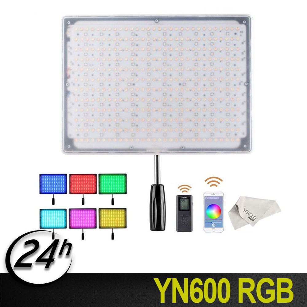 <font><b>Yongnuo</b></font> <font><b>YN600</b></font> RGB YN600RGB Led Video Light Bluetooth Control by phone APP Studio Lighting 3200K-5500K for Filmaking Wedding Vlog image