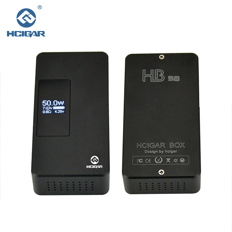 Original Hcigar HB-50 Box Mod 7-50 Watt Schwerkraft einstellung Variable leistung APV elektronische zigarette Mod