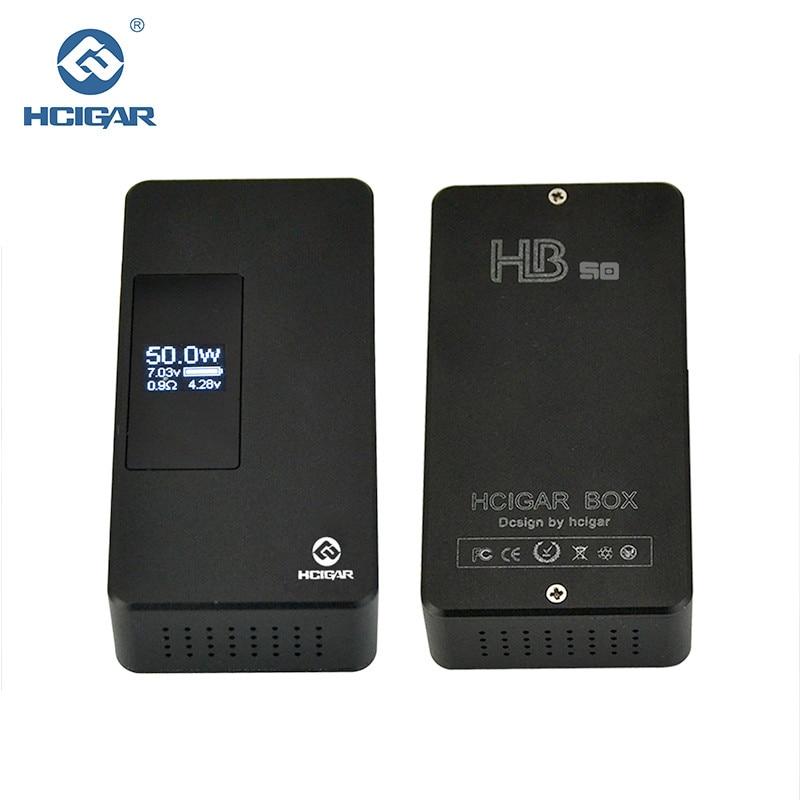 Original Hcigar HB-50 Box Mod 7-50W Gravity control adjustment Variable Wattage APV electronic cigarette Mod