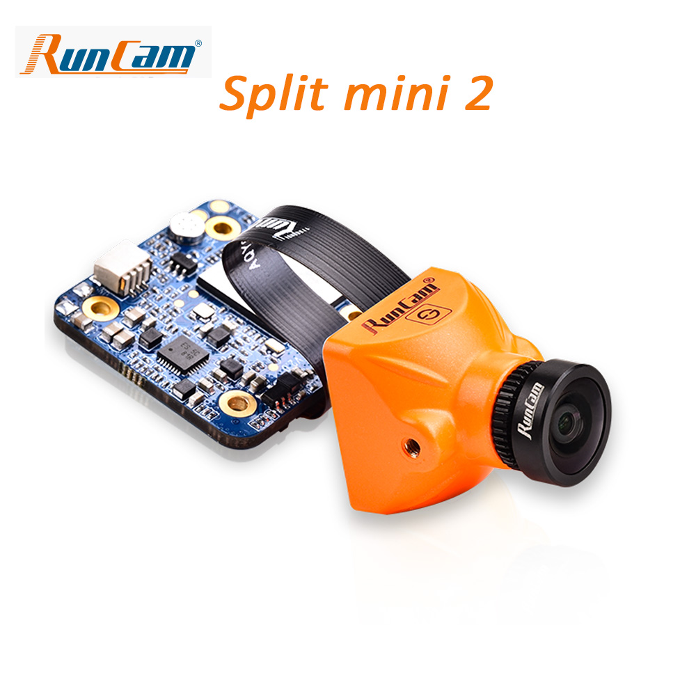 New arrival RunCam Split mini 2 FPV Camera 2 MP1080P/60fps HD recording plus WDR NTSC/PAL Switchable for Racing Drone 100% original new runcam 2 fpv hd camera av out fpv camera runcam2 1080p 120 angle wifi for walkera qav250 rc racing drone