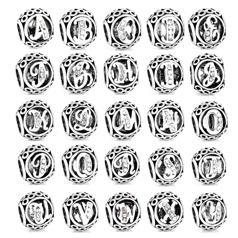 Free Shipping 2017 New 1pc Vintage A To T Alphabet Initial