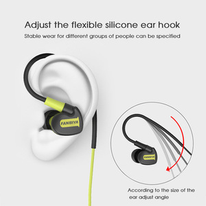 Image 5 - TRANSCTEGO sport wired Earphone running headphones sports universal wired earphones with mic 3.5mm jack standard stereo headset