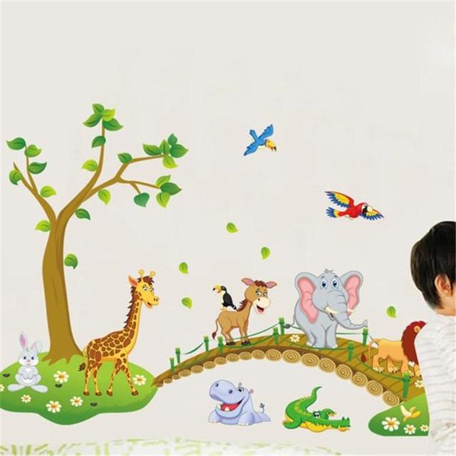 Animal Bridge Wall Sticker