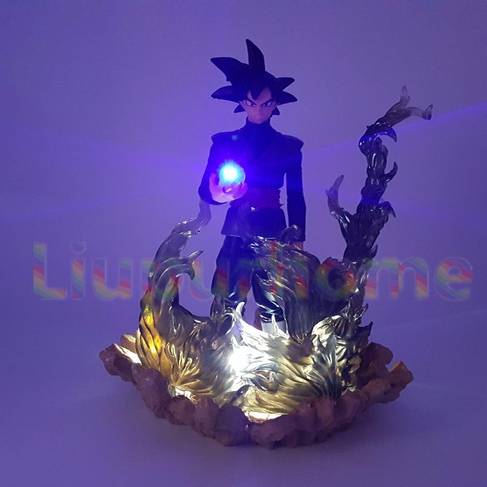 Dragon Ball Z Son Goku Black Zamasu Led Night Lights DIY Led Scene Anime Dragon Ball Z DBZ Led Table Lamp Christmas Decor anime dragon ball z golden shenron crystal ball led set dragon ball super son goku dbz led lamp night lights xmas gift