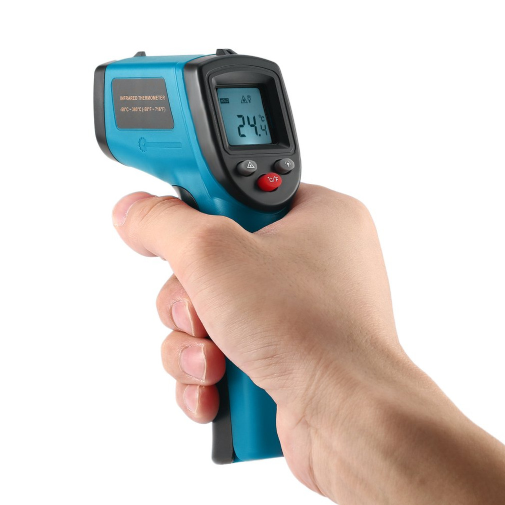 GM320 Non-Contact Laser LCD Display IR Laser Digital Temperature Meter Sensor Infrared Thermometer Point Data Holding Industry