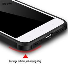 iboann Top Quality Airbag Anti-knock matte soft Case for xiaomi mi6 max2 mi5c phone cases for xiaomi redmi 4 4A 4X note4x note5A