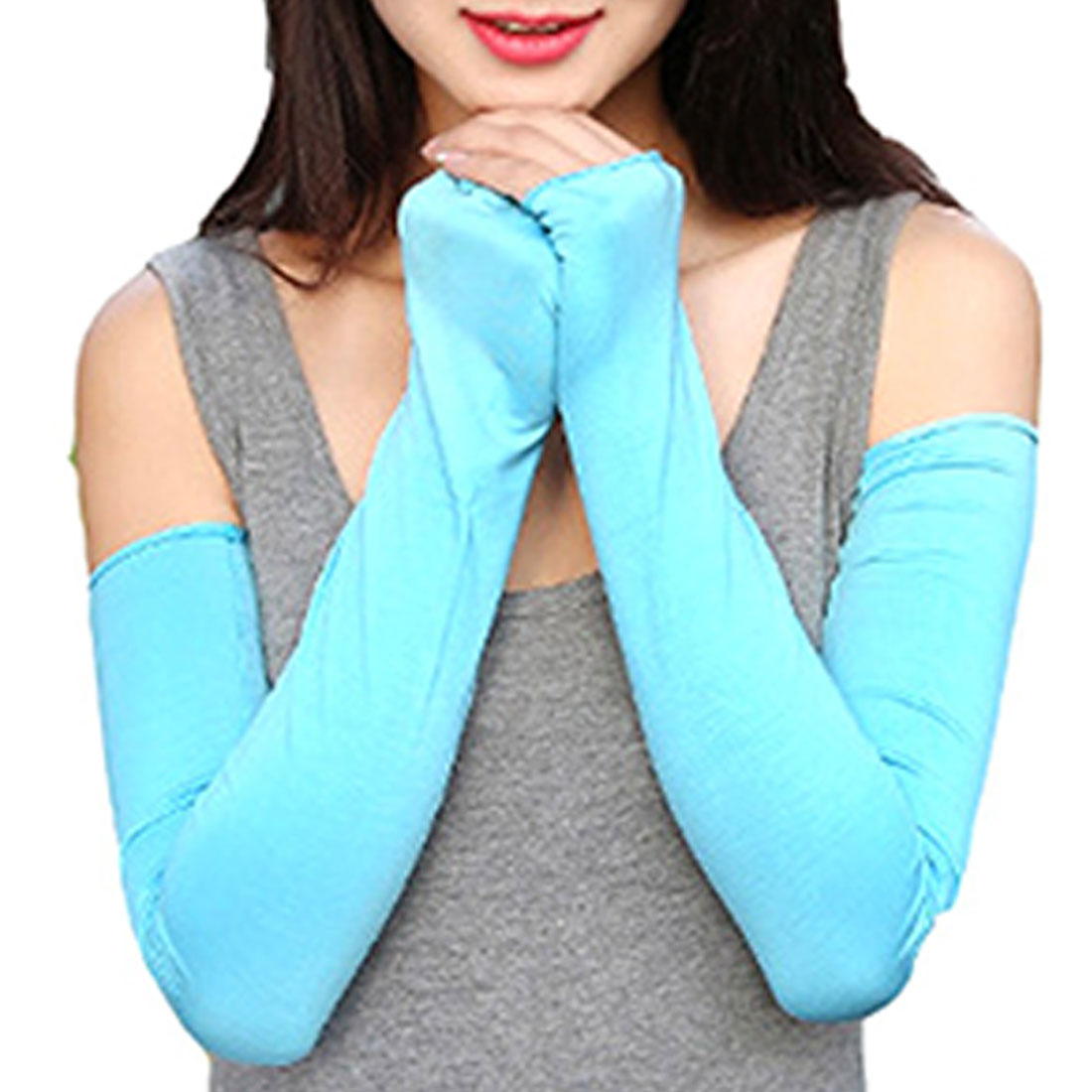 Long Gloves Sun UV Protection Hand  Men Women Arm Sleeves Summer Sun UV Protection Cycling Running Fishing Clambing Driving