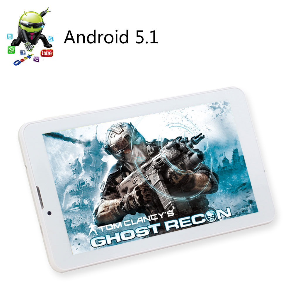ФОТО 7 inch Tablet IPS Quad Core MTK CPU Tablette Android 5.1 Built-in 3G Phone Call Dual SIM CardTablets PC GPS BT Dual Cameras