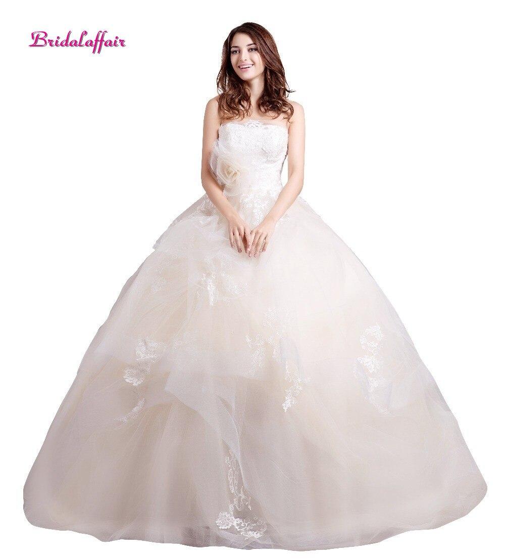 Robes de mariée en Tulle robe de bal sans bretelles robes de mariée 2018 robe trouwjurk robes de mariée mariee 2018 robe de mariée