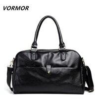 Hot Selling Male Bag Fashion Travel Handbags PU Leather Large Capacity Designer Handbag Soft Skin High