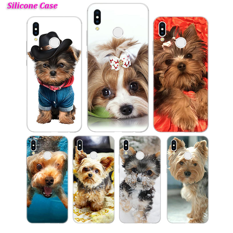 Silicone Phone <font><b>Case</b></font> Yorkshire terrier <font><b>dog</b></font> puppy for <font><b>Huawei</b></font> Nova 3 4 Honor 7C 7A 8 8X 9 10 Y5 Y6 <font><b>Y7</b></font> Y9 V20 Lite Pro <font><b>2019</b></font> 2018 Cov image