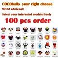 Кокосовые шары 100 шт./лот, автомобильные антенные шары, воздушные топперы, Автомобильные украшения, аксессуары - фото