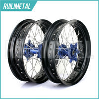 17 Supermoto For YAMAHA Wheel Set Hub Rim YZF250 YZF450 YZ250F YZ450F YZF 250 YZF 450