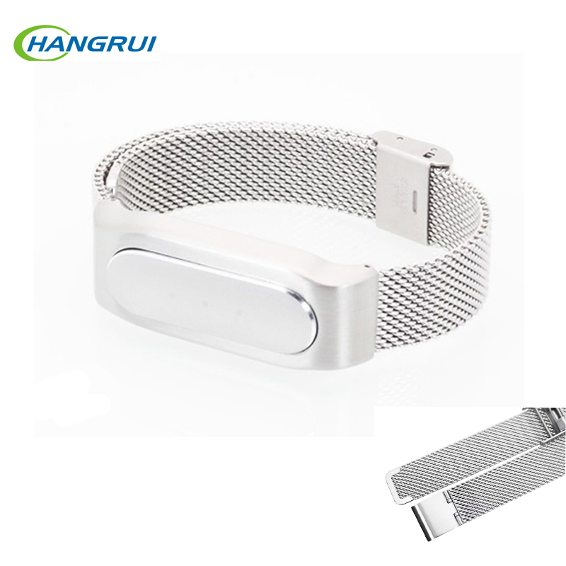 Hangrui Replacement Watch Strap For Xiaomi Mi Band 1s Adjustable Wrist Belt 22cm Stainless Steel Bracelet For xiaomi band 1s 1A