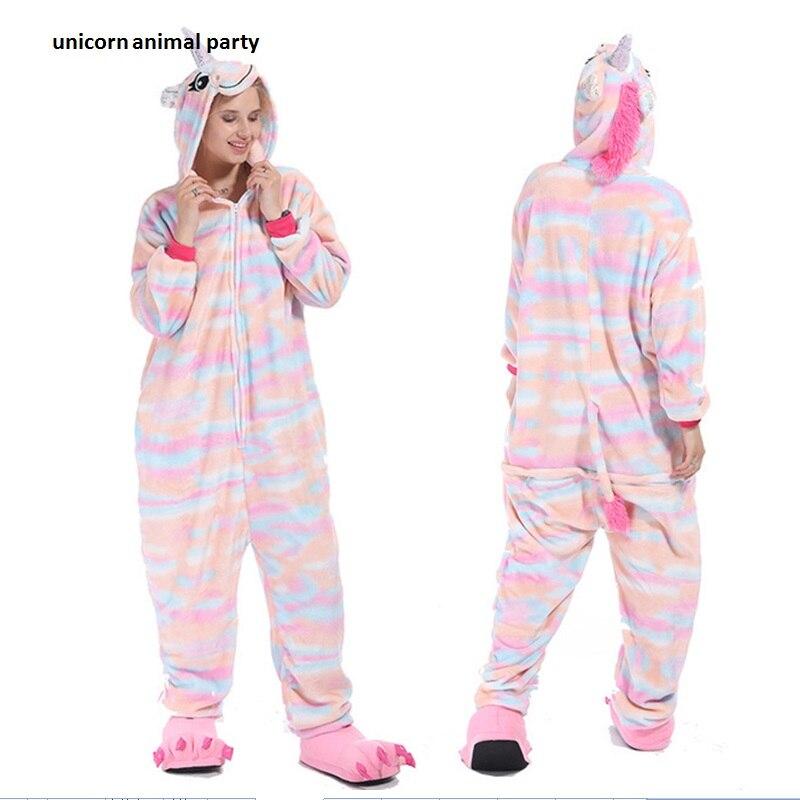 Kigurumi Onesies Cosplay men women Colorful unicorns pajamas Halloween costumes costumes dance Party hoodies costumes carnival
