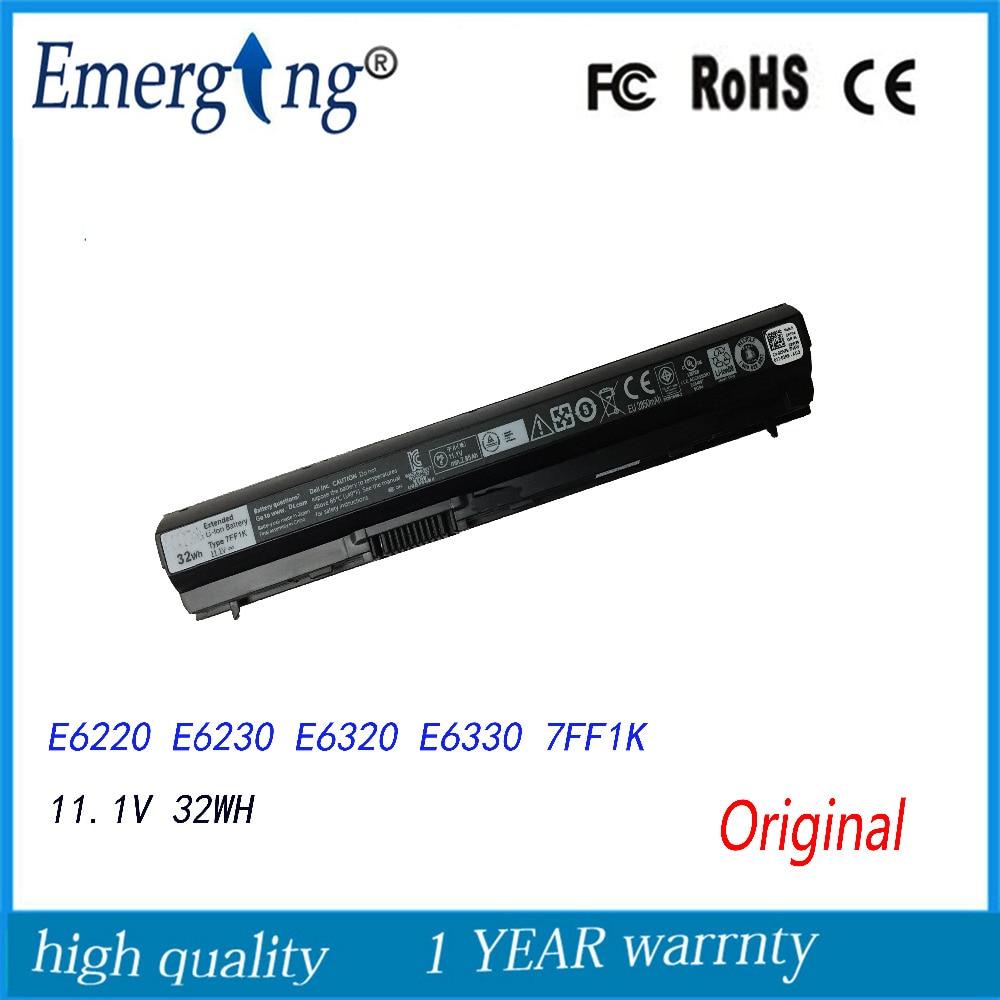 3cells 11.1V 32Wh Original New Laptop Battery for Dell Latitude E6120 E6220 E6230 E6320 E6330 E6320 XFR e6430s 7FF1K 09K6P
