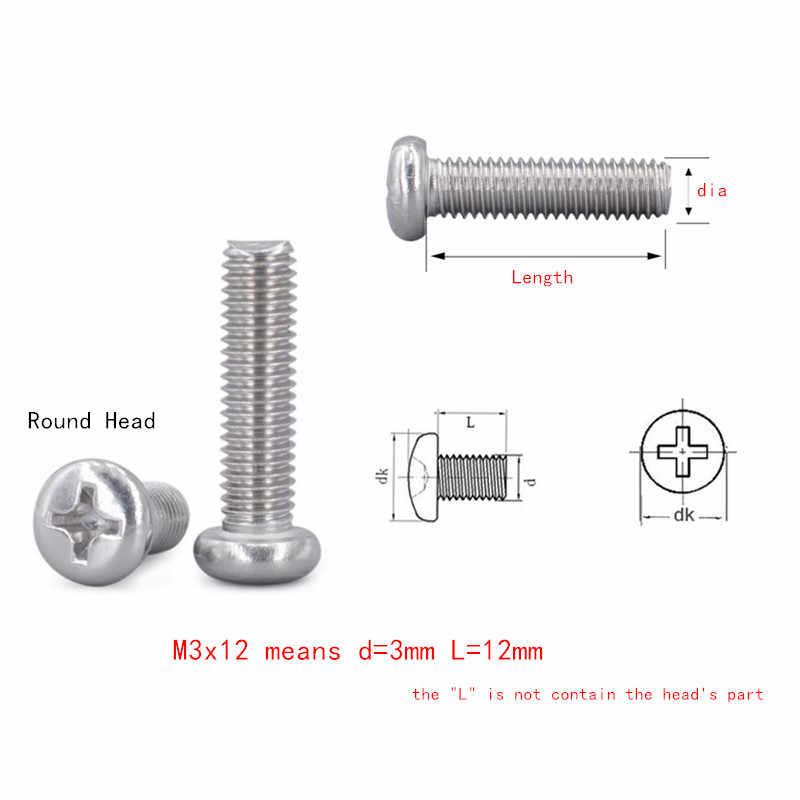 tornillo paquete de 20 tornillo para m/áquina de queso A2 M1.6 1,6 mm x 2 mm acero inoxidable