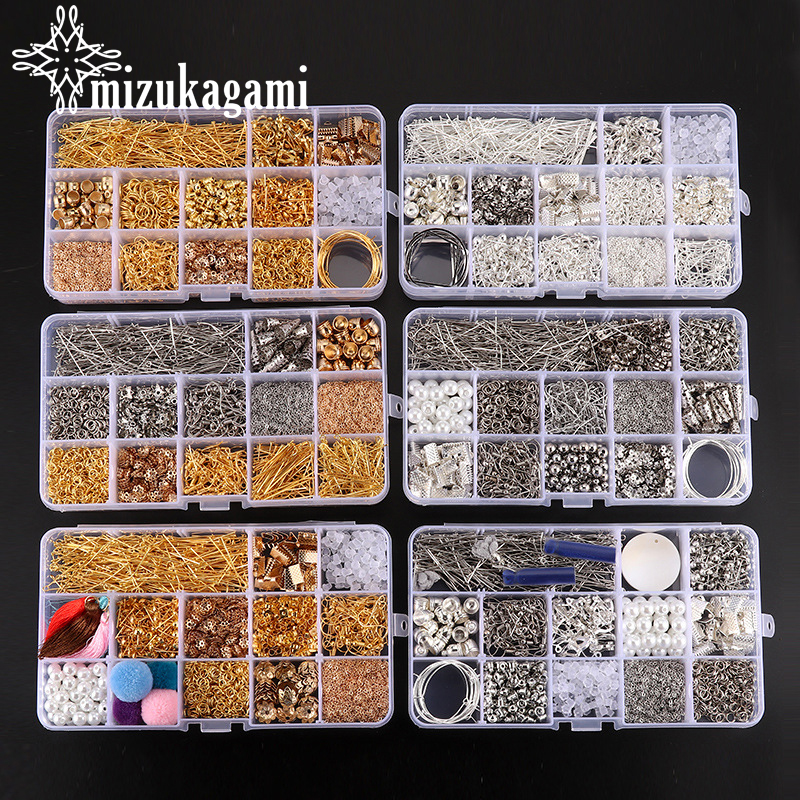 1 Set Alloy Earrings Parts Material Package Rectangle Tool Receiving Box Base Earring For DIY Earring Jewelry Making Accessories