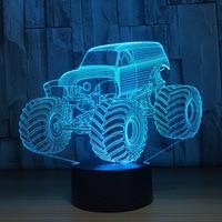 3D Colors Lamp Car Truck Shape Auto 3D Hologram Home Illumination Bedroom Decor Desk Table Lamp
