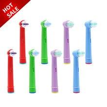 8 cabeças de escova das crianças da substituição dos pces para oral-b d19 oc18 d811 d9525 d9511 d25 d30 princesa/carro/cabeças de escova do dente de mickey