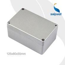 Good Quality Saip Aluminum Box,  Waterproof junction Box SP-FA2-1 (125*80*55mm) with 4 screws