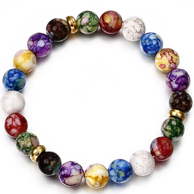 Met Goed Opvoeding 2018 Hot Fashion Kleurrijke Bead Armband Voor Vrouwen Populaire Charm Ronde Kraal Heren Armband Groothandel Sieraden Ns5 Bekwame Productie