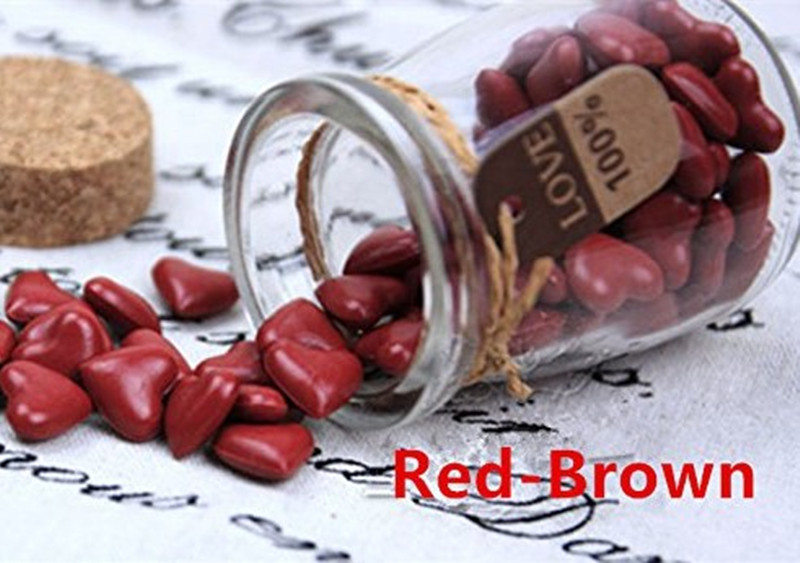 Vintage 90pcs Red Brown Heart Shape Bottled Glass for Wax Seal Sealing Stamp Wedding Invitations Adhesive Wax Sticks Beads 1 design laser cut white elegant pattern west cowboy style vintage wedding invitations card kit blank paper printing invitation