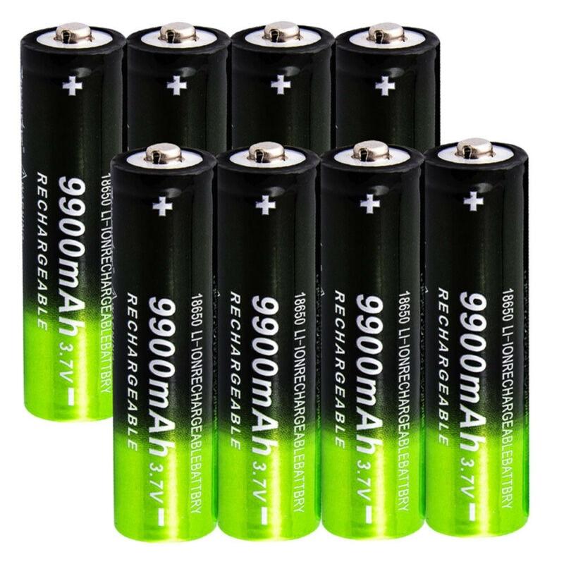 GTF 18650 batería recargable 3,7 V 18650 9900mAh capacidad Li-ion batería recargable para linterna antorcha batería regalo