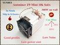 Gebruikt ZCASH Mijnwerker Antminer Z9 Mini 10 k Sol/s 300 W Asic Equihash Mijnwerker ZEN ZEC BTG, laag Vermogen Kosten, Hoge Winst in voorraad