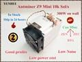Verwendet ZCASH Miner Antminer Z9 Mini 10 k Sol/s 300 W Asic Equihash Miner Bergbau ZEN ZEC BTG, low Power Kosten, Hohe Gewinn auf lager