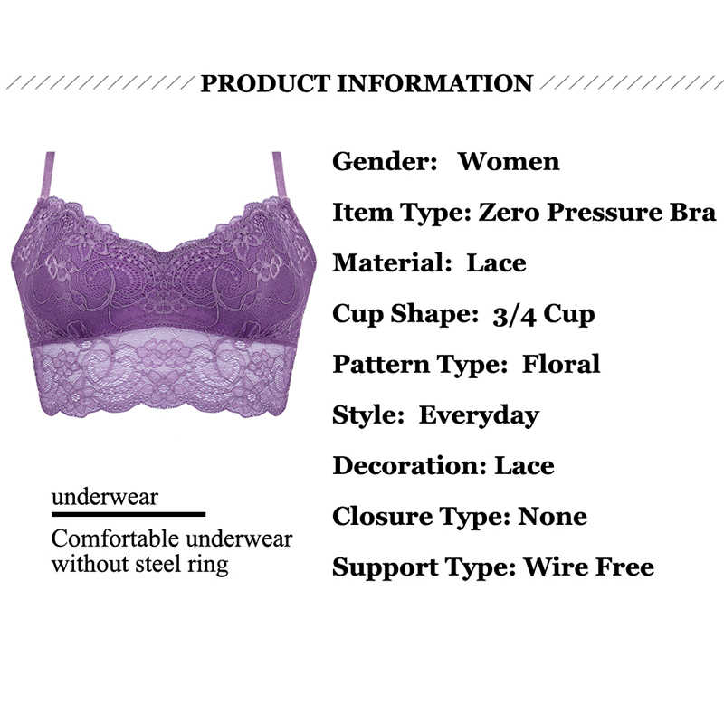 f14aab476c ... Hot Sexy Lace Floral Bralette Bras Lingerie Seamless Wireless One Piece Push  Up Bras For Women ...