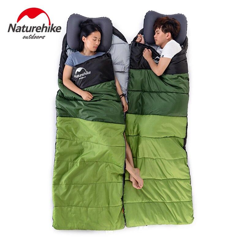 Naturehike Фабричный спальный мешок для путешествий на весну, осень, зиму, теплый портативный походный спальный мешок для взрослых в помещении - 4