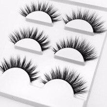 2019 New 3 pairs natural false eyelashes fake lashes long makeup 3d mink lashes extension eyelash mink eyelashes for beauty