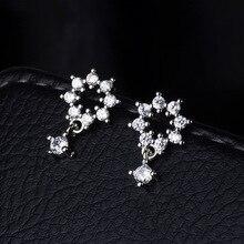 S925 silver earrings, Simple zircon earrings, Jewelry & Accessories,Fashion Jewelry,Stud Earrings. contrast tape side plaid pants